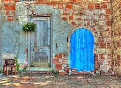 Blue Door or Wooden Door