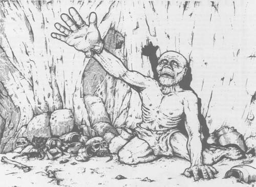 右手を掲げた Skulk