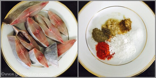 Pomfret Fish fry - step 1