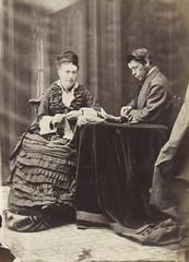 Studio proof of Mr. and Mrs. William James Topley from a Topley Studio counterbook / M. et Mme William James Topley, page d'un album d'épreuves du Studio Topley