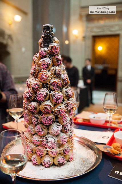 Croquembouche display for Chef Hoskins' table