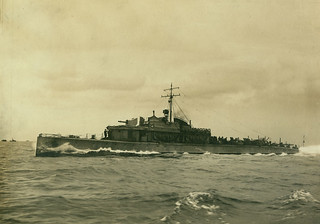 First World War Patrol boat on sea trials