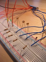 electrical wiring(0.0), breadboard(1.0), circuit component(1.0), electrical supply(1.0), wire(1.0), line(1.0), electrical network(1.0), electricity(1.0),