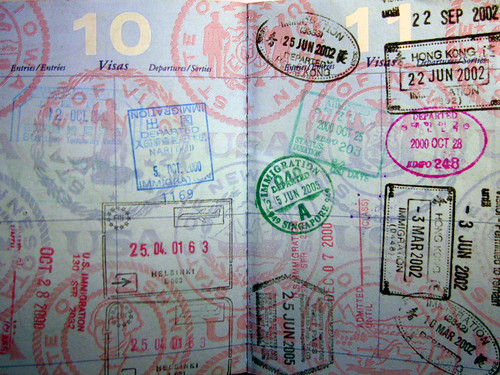 My collection of passport stamps