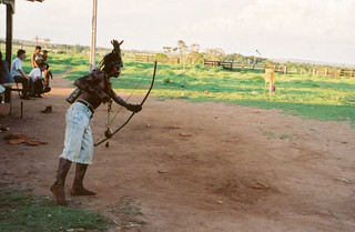 Guarani Kaiowa - Mato Grosso do Sul Brazil: archery practice