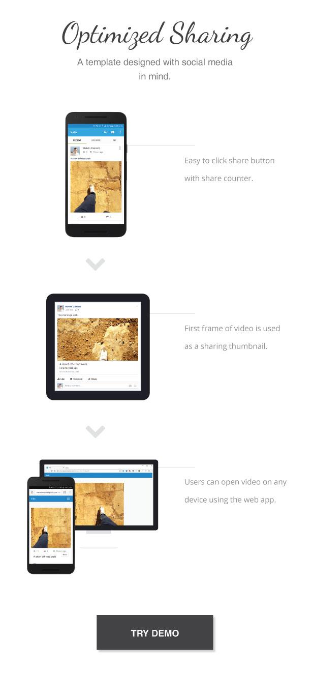 Vido - Video Social Media App Template - 3