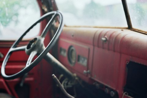 Old Fargo truck steering wheel