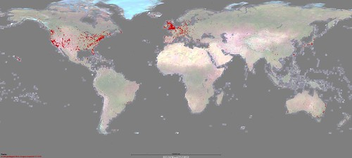 41,389 GeoTagged Flickr Images - as of  17-8-05