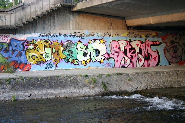 Dreisam bridge graffiti II