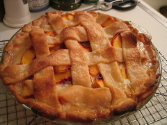 Peach Passionfruit White Chocolate Pie