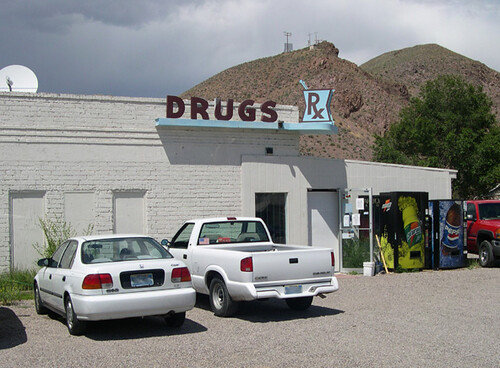 Drug Store Sign Before Removal