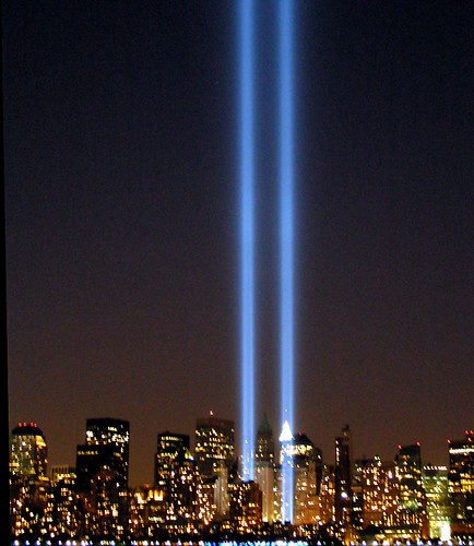 """NYC Twin Lights 9/11 """"Tribute in Lights"""" Memorial 2005"""