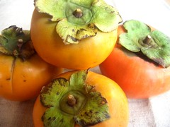 produce, fruit, food, persimmon,