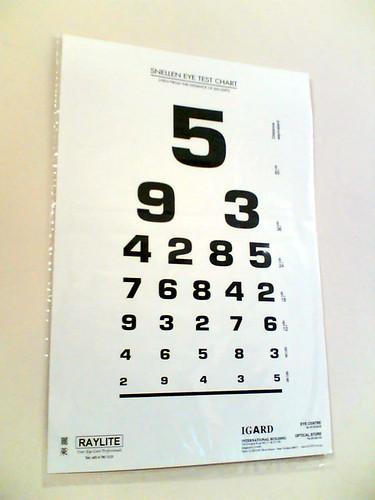 Eye Test Chart Eye Test Chart
