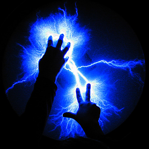 plasma lightning bolt and thunder