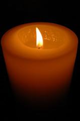 orange, candle, yellow, light, flame,