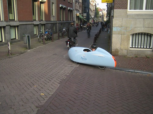 Strange bike in the streets of Amsterdam
