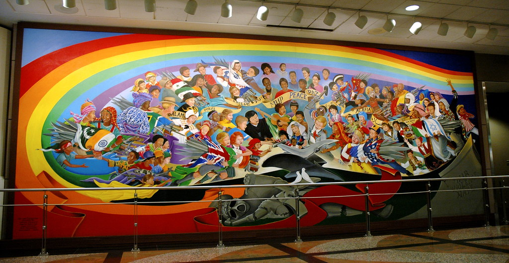 Denver airport conspiracy old project avalon forum archive for Denver mural airport