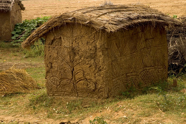 This is a Shit House ... really, it's made of cow dung ...