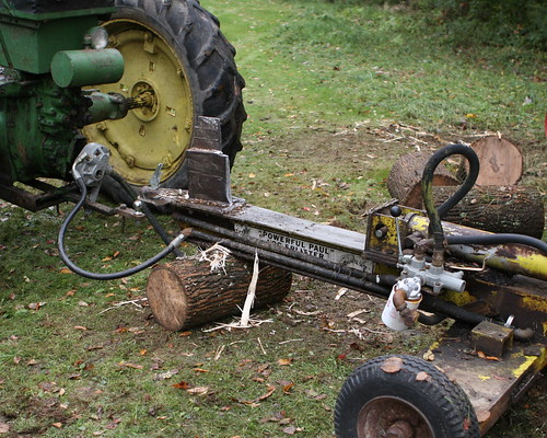 Tractor and hydraulic  log splitter