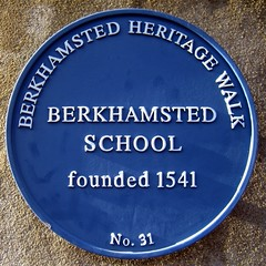 Photo of Berkhamsted School blue plaque