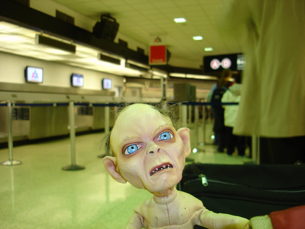 Smeagol and I in miami airport.
