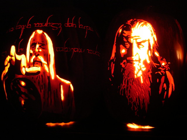 Lord of the Rings pumpkins