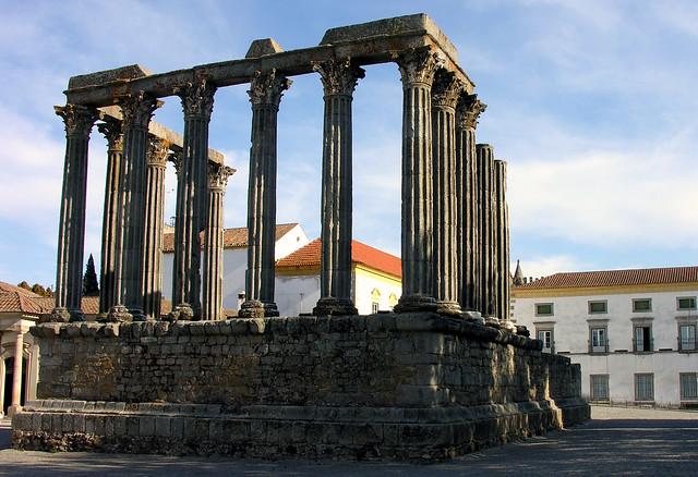 Roman temple, Evora, Alentejo, Portugal, 28 September 2005