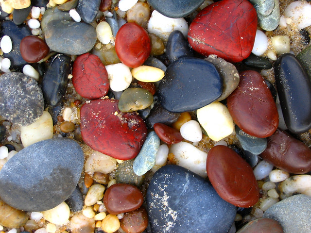 pebbles from red rock beach