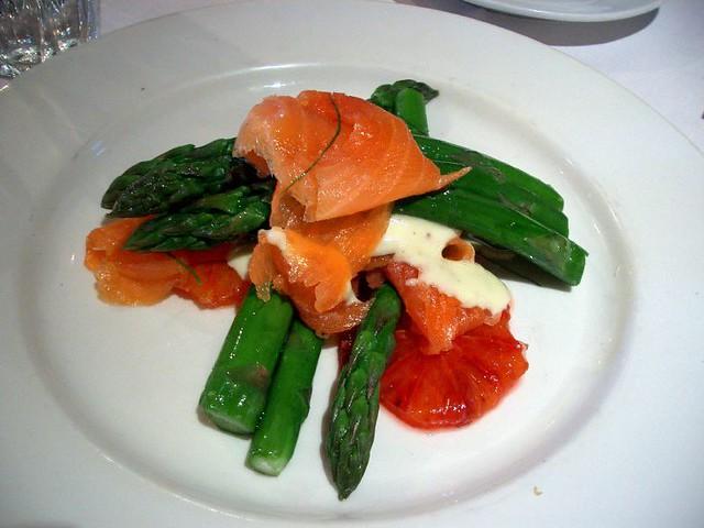 Asparagus, Smoked Salmon, Blood Orange and Aioli - King River Cafe ...