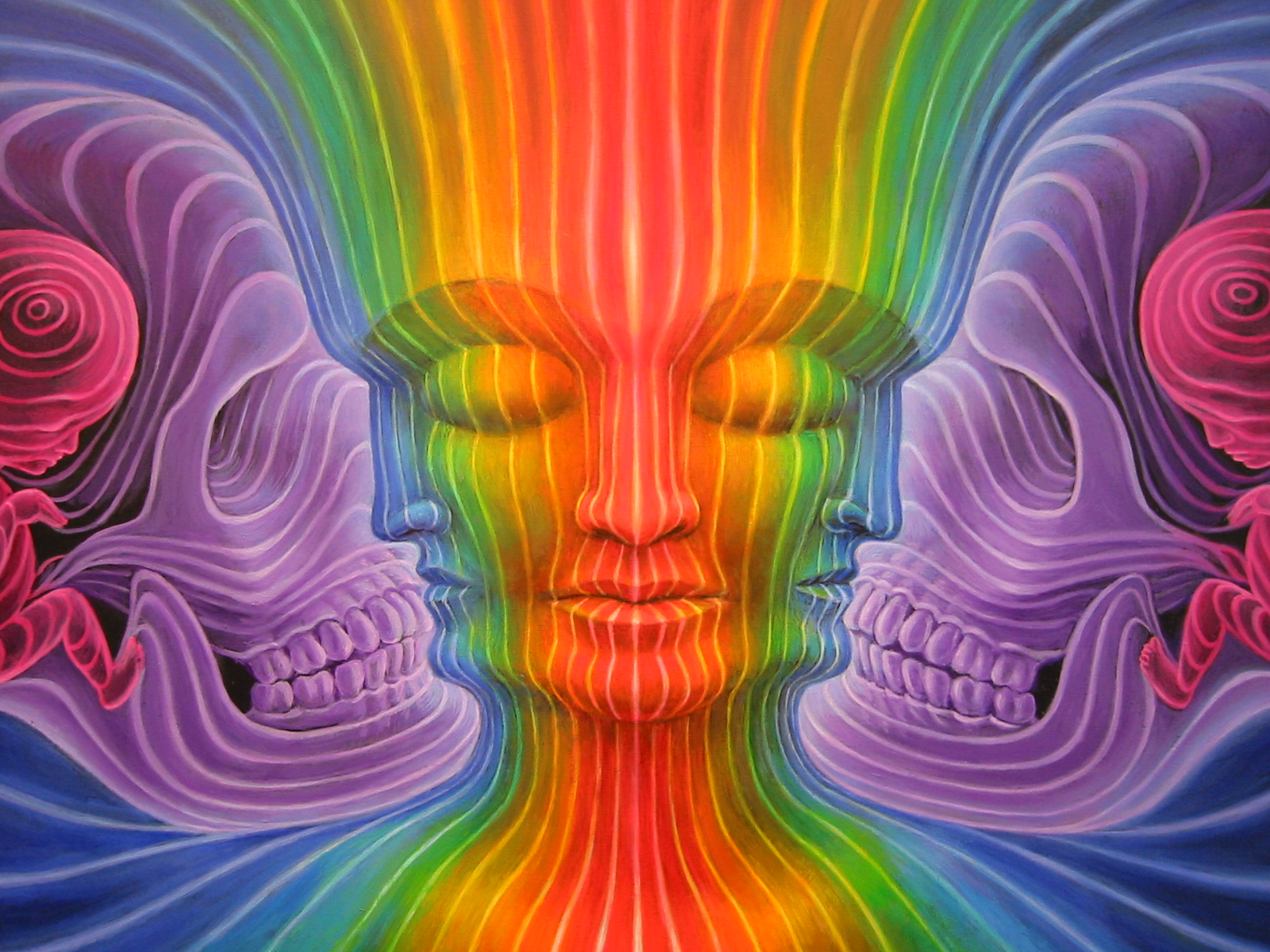 Psychedelic Spirit Paintings Alex Grey Art Gallery: Alex Grey Painting At Synergenesis I