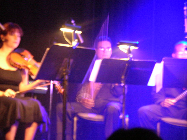 The string quartet w/ a heavenly blue light Flickr - Photo Sharing!