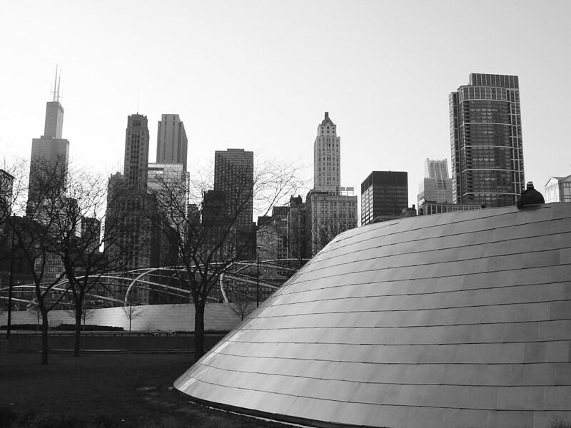 BP Bridge and Chicago Buildings