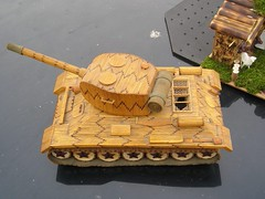 wood, vehicle, tank, miniature, scale model, toy,