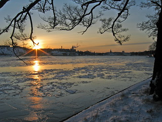 Winter Sunset over Stockholm 2