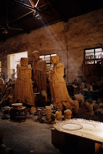 Buddha carving factory