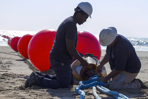 CJLOTS Team connects pipeline at Anmyeon Beach, Republic of Korea