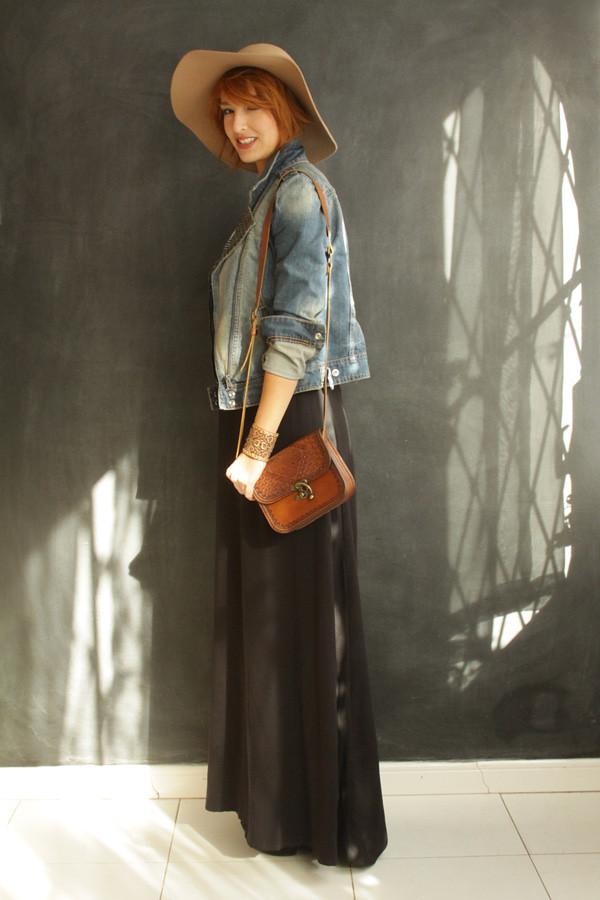 Look do dia  vestido longo e chapéu - Blog De repente Tamy Blog De ... 5709c590ce0