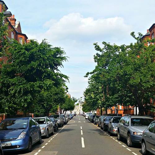 Leafy street in West Kensington
