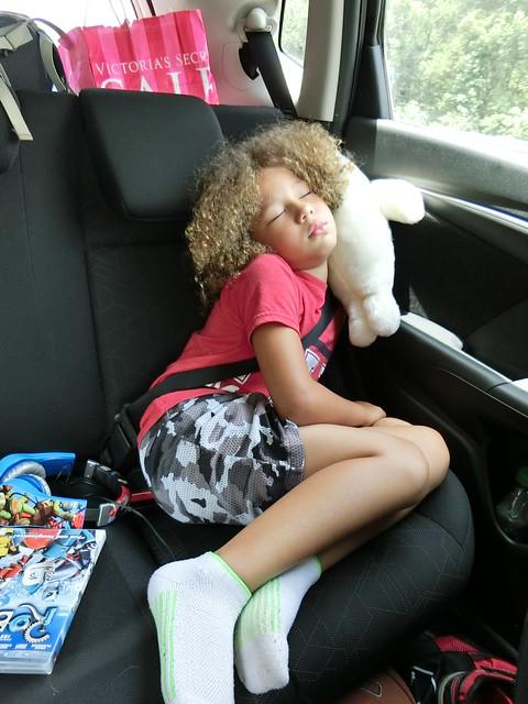 Sleeping on Her Baby Seal