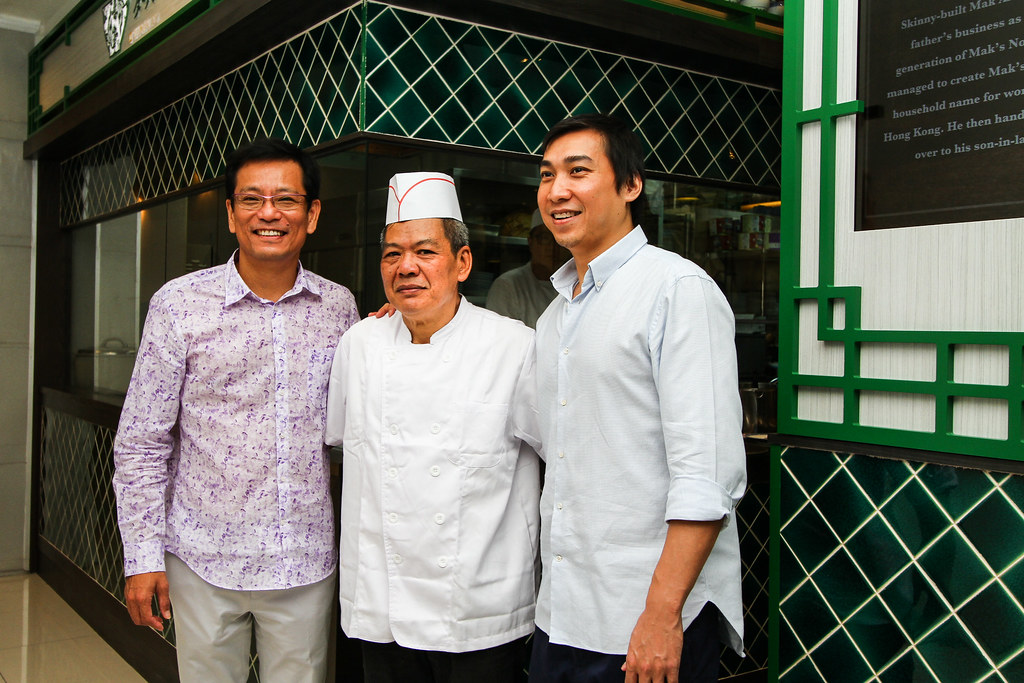 Mak's Noodle: Founder's son Mak An (left) and son-in-law, Tony (right)