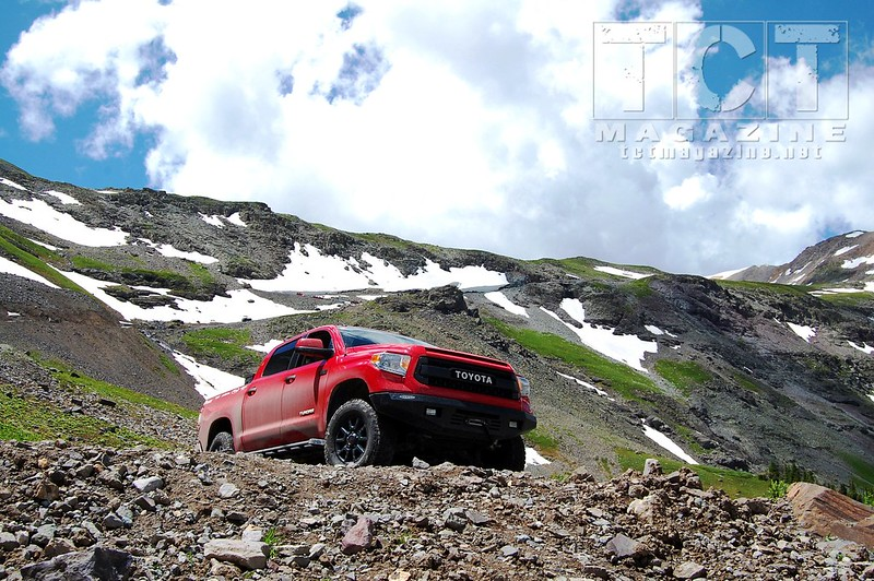 2015 Toyota Tundra CrewMax on Imogene Pass - Ouray Colorado