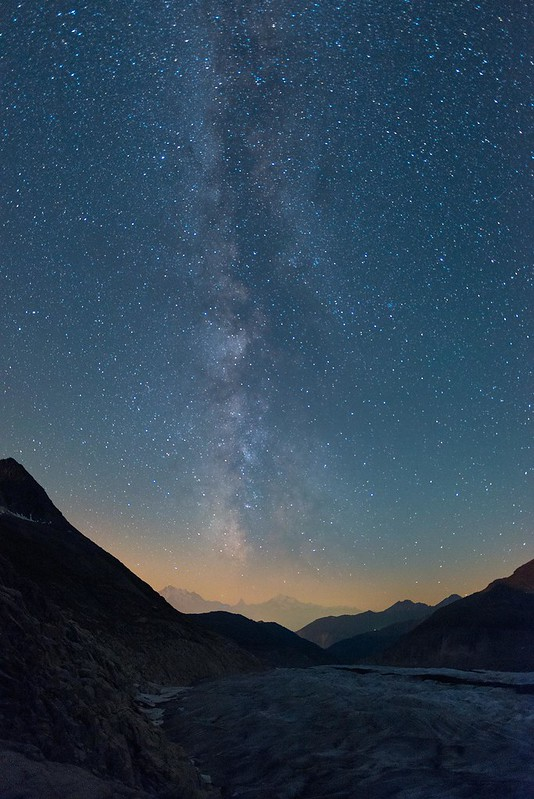 Milky way over the Matterhorn - Märjelensee