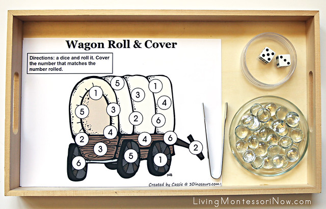 Pioneer Counting and Addition Roll and Cover Games