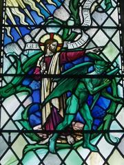 Christ repels Satan