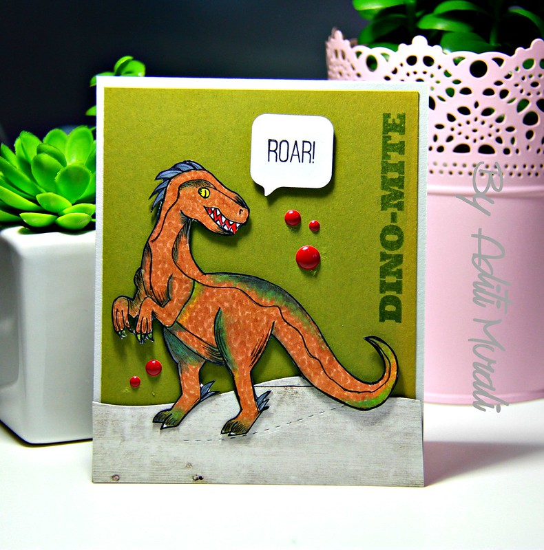 Roar card by Aditi Murali