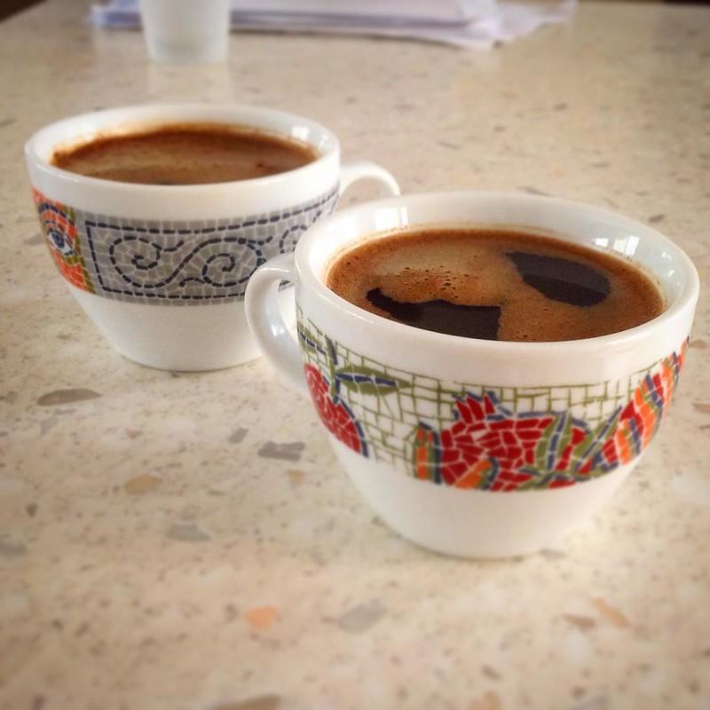 Enjoying a bit more Greek brewed coffee