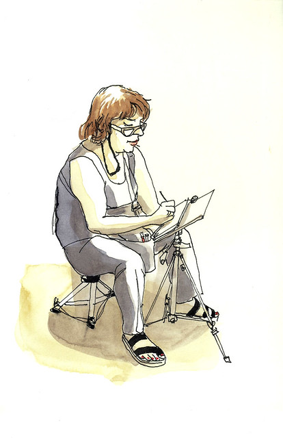 Stephanie sketching