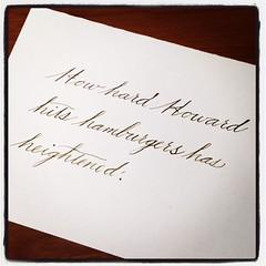 Oh, Platt Rogers Spencer - I'm so sorry. #handwrittenABC #spencerian #practice
