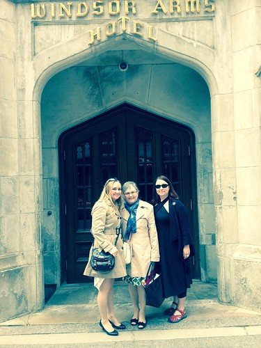 Me, my Mom, and my sister at the Windsor Arms Hotel for high tea